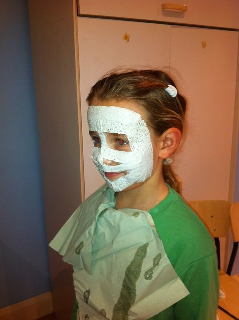 mask making at Putney group