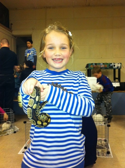 C with a snake at Putney group Feb 11
