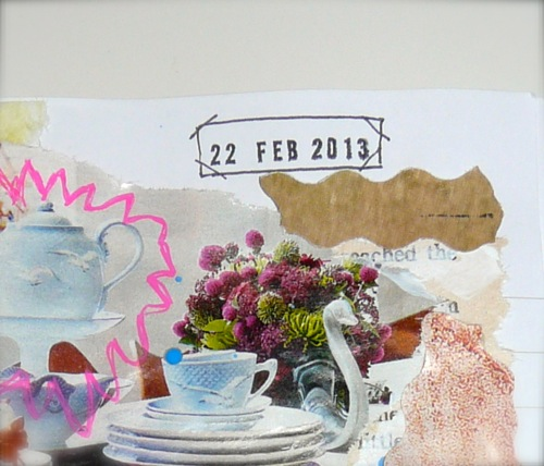 art journalling - date stamp