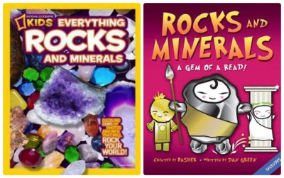 Rocks  Minerals books collage