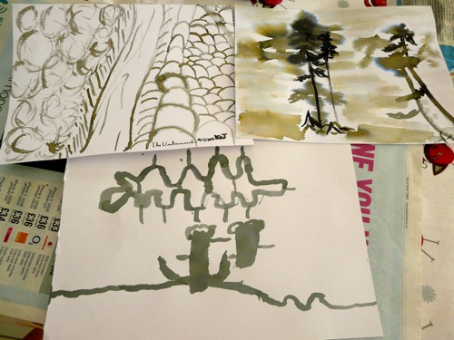 japanese ink wash painting for kids