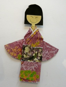 origami kimono for Japan lapbook