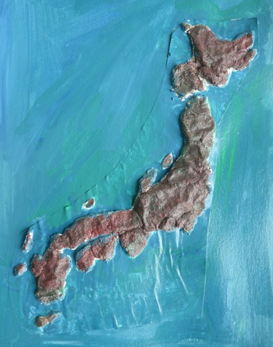 salt dough map of japan