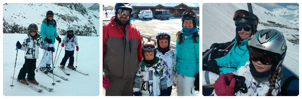 skiing and learning in France