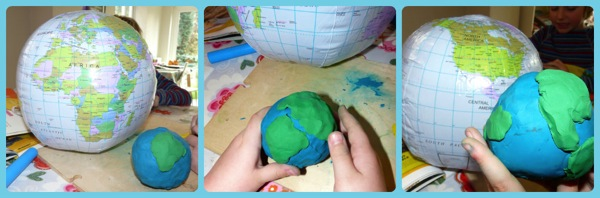 how to make a model clay earth