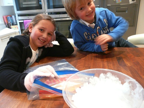 hands-on experiment salt and ice heat transfer