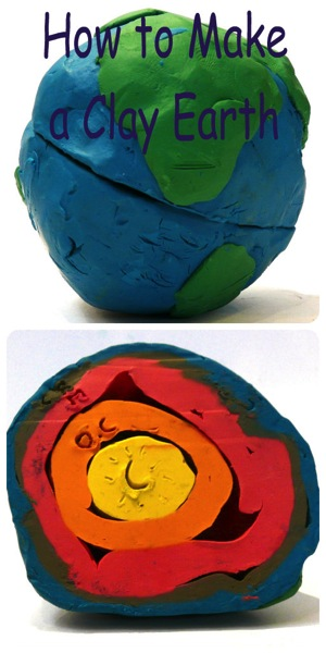 How to make a clay model  earth