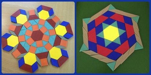 pattern blocks living maths fun