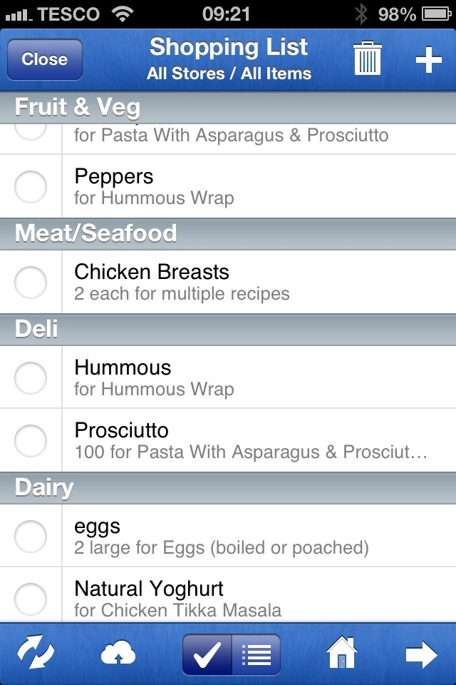 MealBoard Screenshot - homeschool menu planning