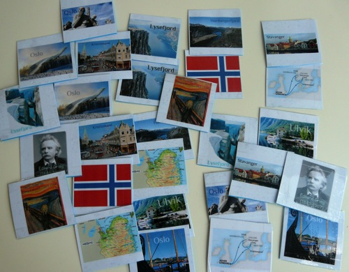 Norway unit study memory pairs