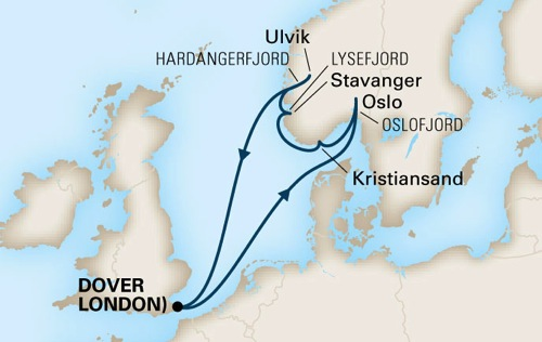 Norwegian fjords unit study cruise route
