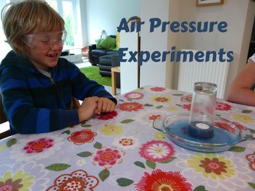 air pressure experiments wtih water and candle