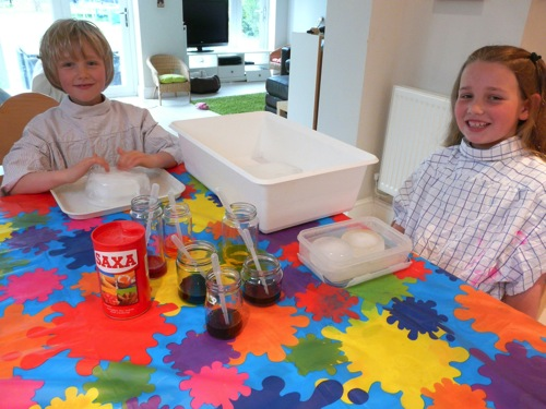 science fun with salt ice and liquid watercolour