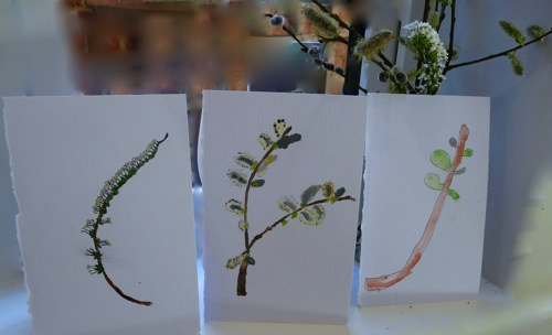spring branch watercolours - homeschool pond study