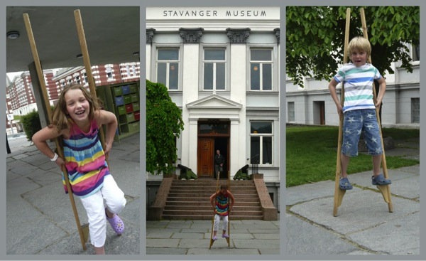 Cruising norway with kids stavanger museum  stilts
