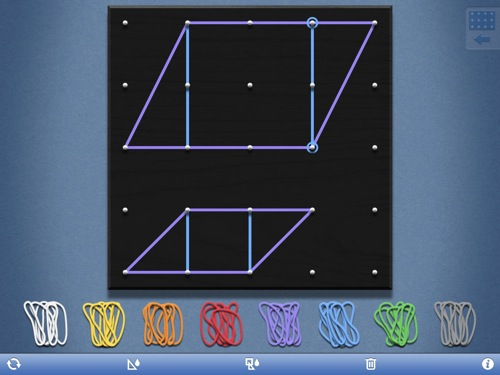 geoboard maths app - best homeschool apps