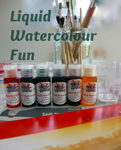 Liquid watercolour paints fun