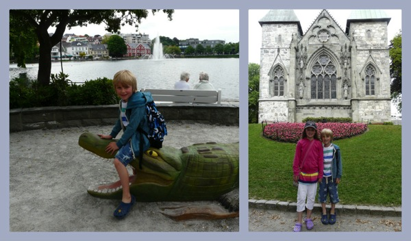 Stavanger cathedral  cruising norway with kids