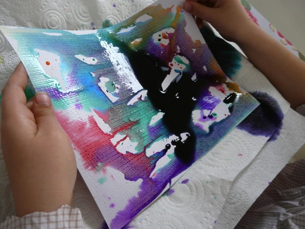 summer fun with liquid watercolours
