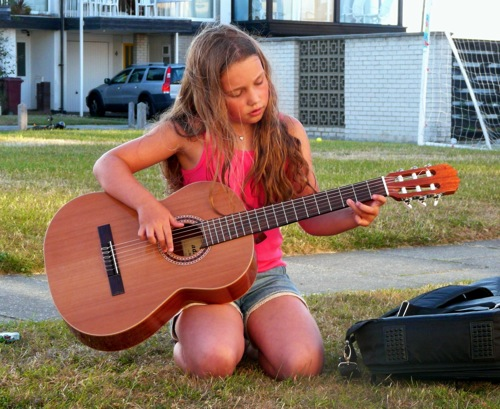 homeschool mothers journal guitar playing