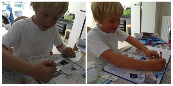 Art journaling for boys and girls