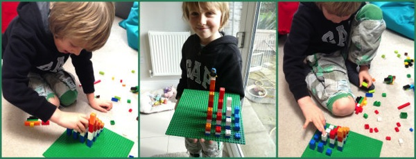 Lego multiplication tower
