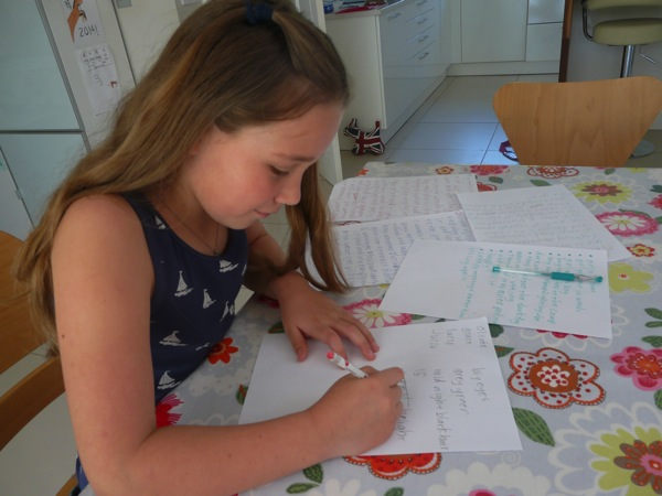 unschooling writing