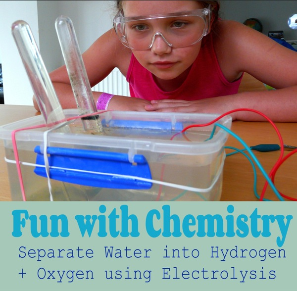 Electrolysis of water for kids