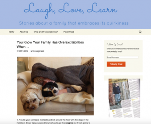 Laugh, Love, Learn blog about overexcitabilities