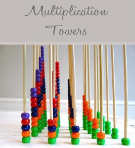 How to make your child love maths - Multiplication towers