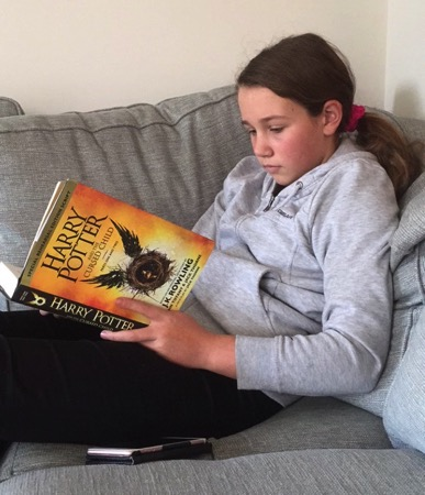 Unschooling on Snapchat - Reading Harry Potter