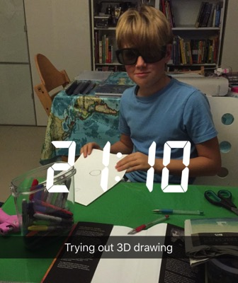 Unschooling on Snapchat - 3D drawing