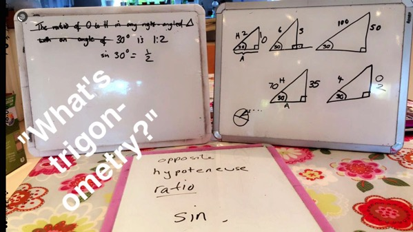 Unschooling on Snapchat - trigonometry